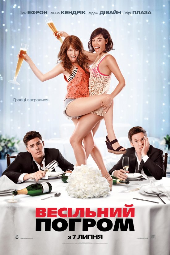 Весільний погром / Mike and Dave Need Wedding Dates (2016) 1080p Ukr/Eng | Sub Ukr/Eng
