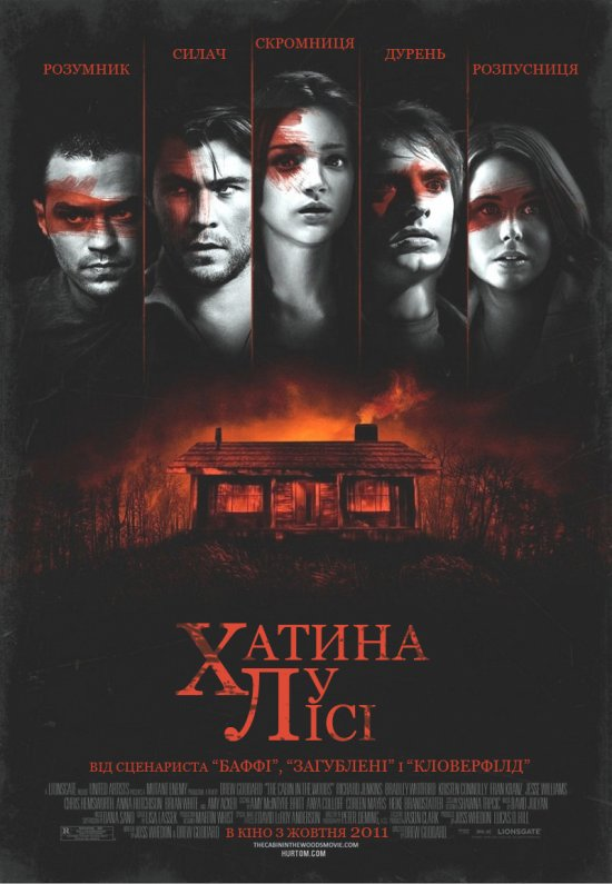 Хижа в лісі / The Cabin in the Woods (2011) 1080p Ukr/Eng | Sub Ukr/Eng
